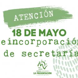 Apertura secretaría 18 de mayo