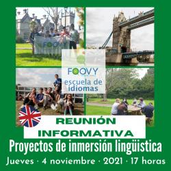 Reunión informativa Inmersión Lingüística Foovy