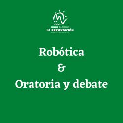 Robótica y oratoria se unen a la oferta de extraescolares 21/22