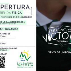 La Tienda Fundación Victoria vuelve a su horario de invierno a partir del 2 de noviembre